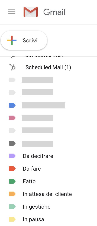 Raggruppare email con le etichette Gmail