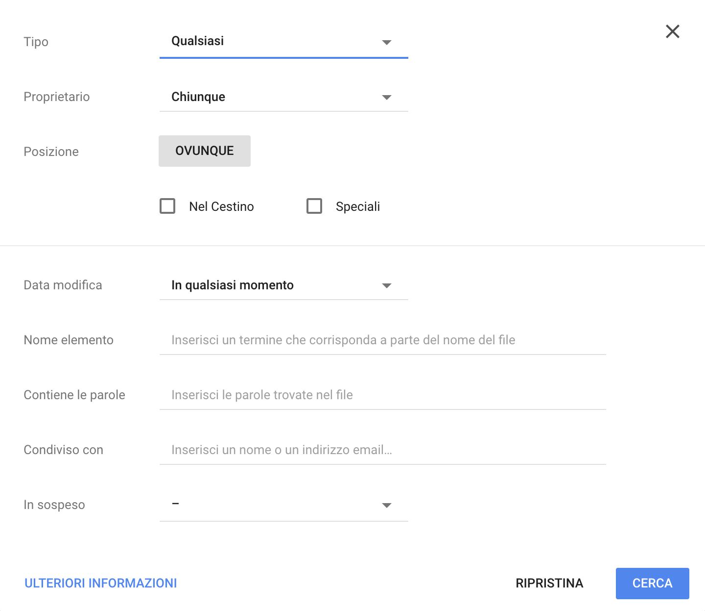 Ricerca avanzata su Google Drive | Come usare Google Drive