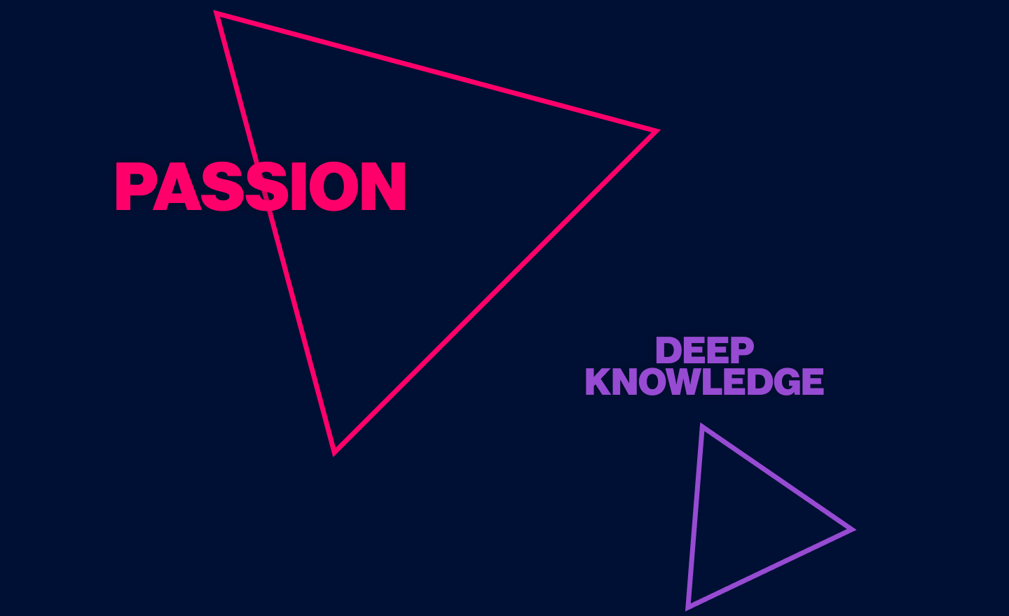 Passion & Deep Knowledge